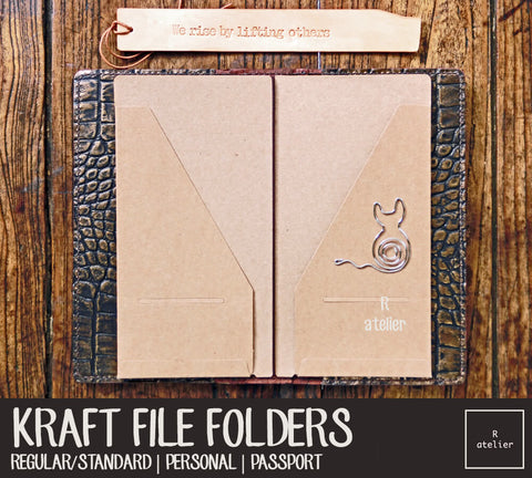 Kraft File Folders | Standard / Personal / Passport