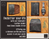 R.atelier Minimalist Slim Business / Credit Card Leather Wallet