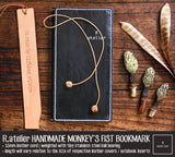 R.atelier Leather Monkey's Fist Knot Bookmark Charm