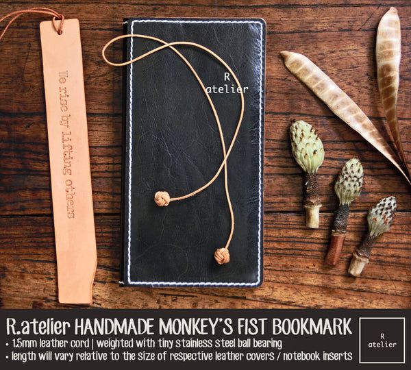R.atelier Leather Monkey s Fist Knot Bookmark Charm afe488a9c