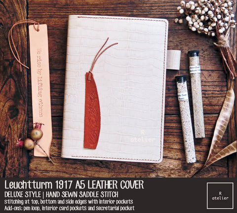 R.atelier Leuchtturm 1917 A5 Leather Notebook Cover
