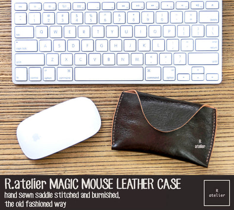 Apple Magic Mouse Premium Leather Case | Dark Brown