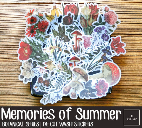 Memories of Summer | Die Cut Washi Stickers