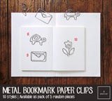 Cute Metal Bookmark Paper Clips