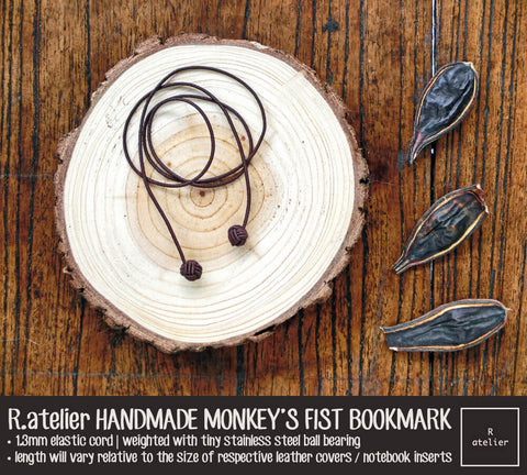 R.atelier Monkey's Fist Knot Bookmark Charm | Chocolate Color