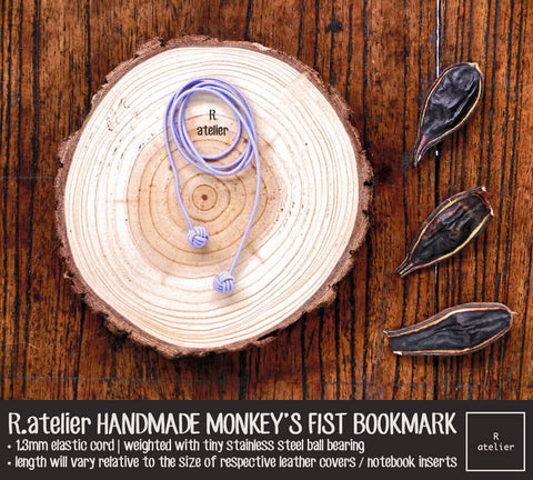 R.atelier Monkey's Fist Knot Bookmark Charm | Lavender Color