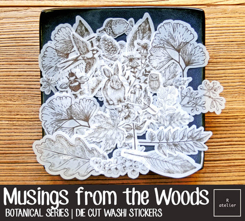 Musings from the Woods | Die Cut Washi Stickers