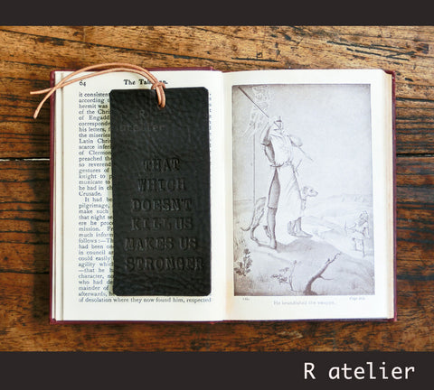 Leather Bookmark | Nietzsche Quotes