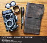R.atelier Traveler's Notebook Leather Cover | One of a Kind | OOAK Standard Size Starter Kit