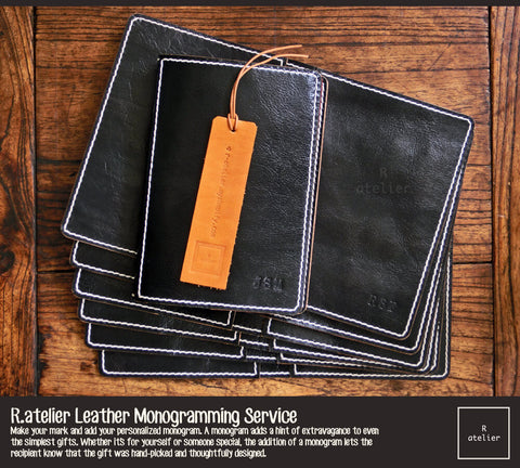 R.atelier Leather Monogramming Service | Debossing and Personalization