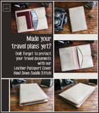 Handmade Premium Leather Passport Wallet | Passport Wallet | Travel Organizer Wallet