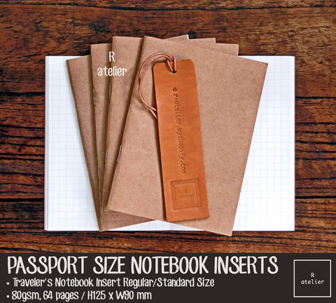 Passport Size Notebook Insert Refills