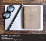 R.atelier Traveler's Notebook Leather Cover | Isabelline | Passport Size Starter Kit