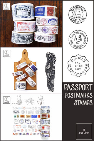Passport Stamps & Postmarks Washi Tapes | Value Pack