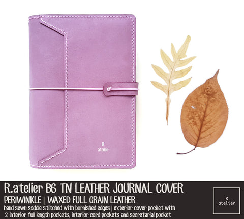 R.atelier B6 TN Leather Journal Cover | Periwinkle