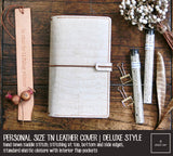 R.atelier Traveler's Notebook Leather Cover | Isabelline | Personal Size