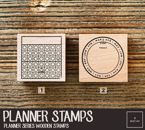 Passion Planner (2) Wooden Stamps