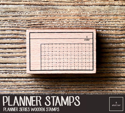 Passion Planner (4) Wooden Stamps