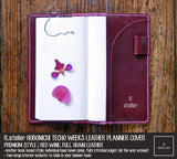R.atelier Hobonichi Techo Weeks Leather Planner Cover | Red Wine