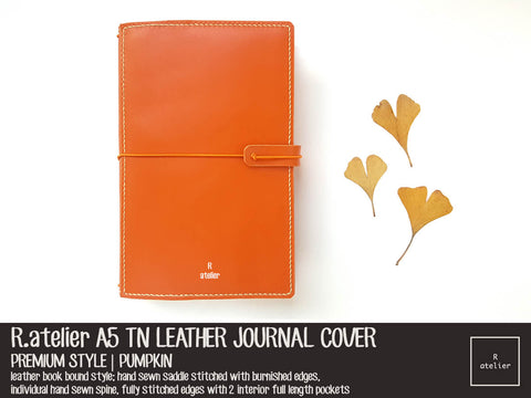 R.atelier A5 TN Leather Journal Cover | Pumpkin