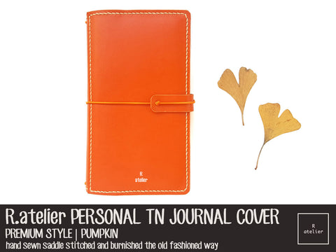 R.atelier Personal TN Leather Cover | Premium Style | Pumpkin