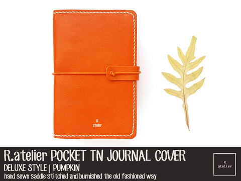 R.atelier Pocket TN Leather Cover | Pumpkin | Deluxe Style