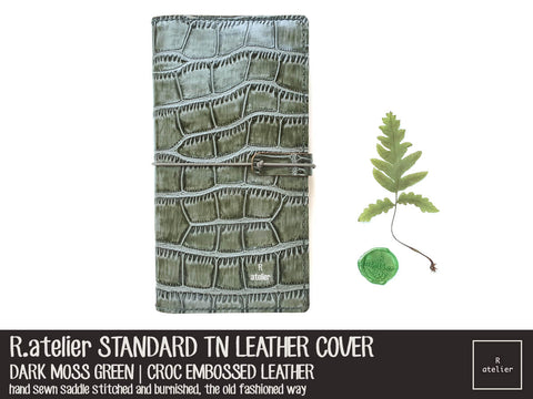 R.atelier Dark Moss Green Standard TN Leather Cover