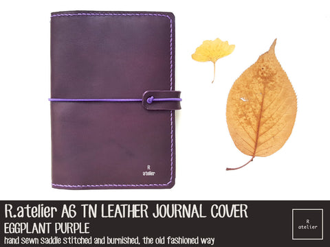 R.atelier A6 TN Leather Cover | Eggplant Purple