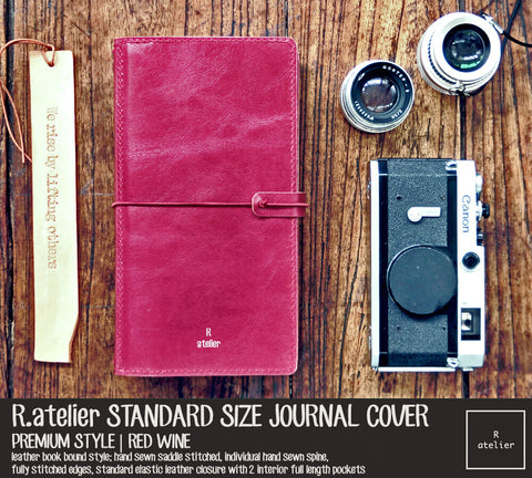 R.atelier Red Wine Standard TN Leather Cover