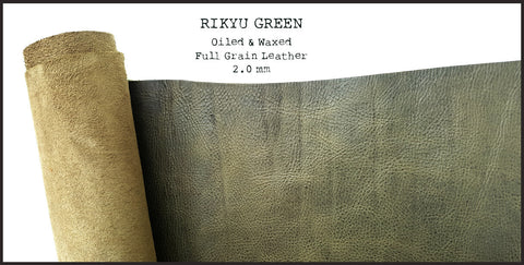 R.atelier Hobonichi Techo Cousin A5 Leather Planner Cover | Rikyu Green