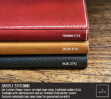 R.atelier Hobonichi Techo Cousin A5 Leather Planner Cover | Red Wine
