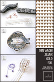Silver Gold Foil Ultra Slim Washi Tapes | 5mm x 5m | Value Pack