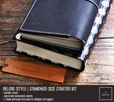 R.atelier Traveler's Notebook Leather Cover | Black Onyx | Standard Size Starter Kit