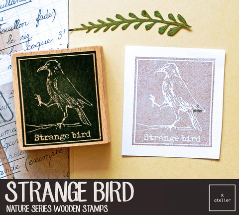 Strange Bird Wooden Stamps