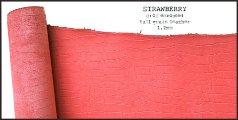 R.atelier B6 Stalogy Leather Planner Cover | Strawberry
