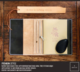 R.atelier A6 Traveler's Notebook Leather Journal Cover | Premium Style | Bistre Black