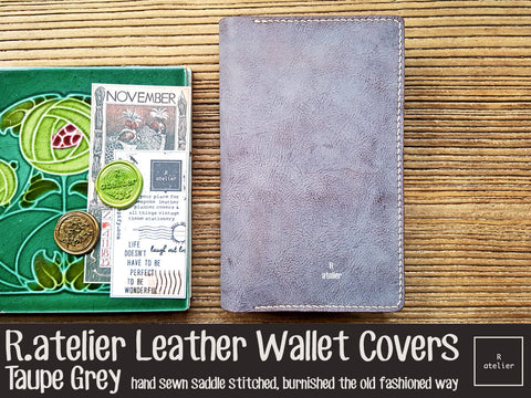 R.atelier Leather Wallet Cover | Taupe Grey