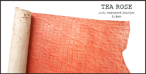 R.atelier | Tea Rose, Croc Embossed Leather