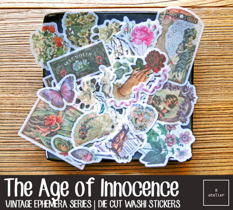 The Age of Innocence | Die Cut Washi Stickers