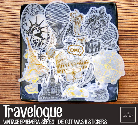 Travelogue | Die Cut Washi Stickers