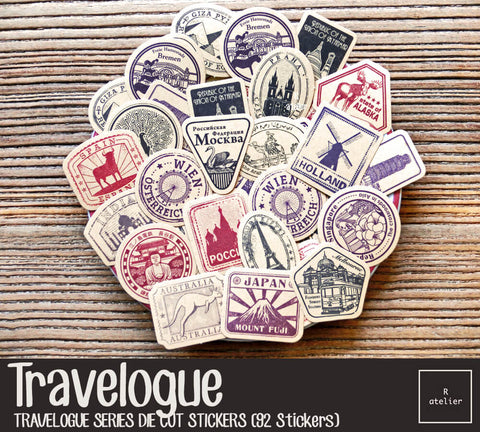 Travelogue | Die Cut Stickers