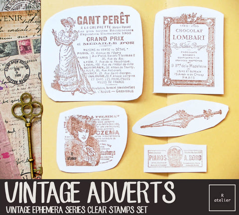 Vintage Adverts (2) | Clear Stamps