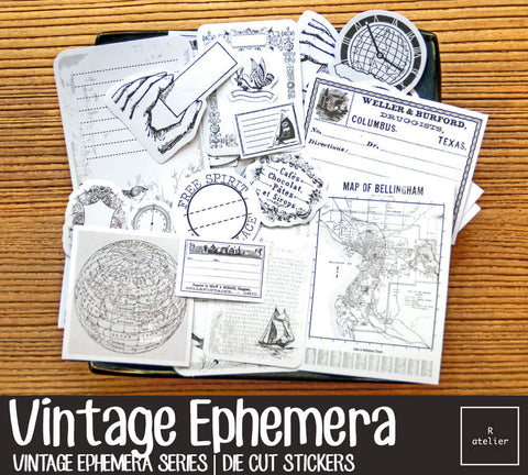Vintage Ephemera (2) | Die Cut Stickers