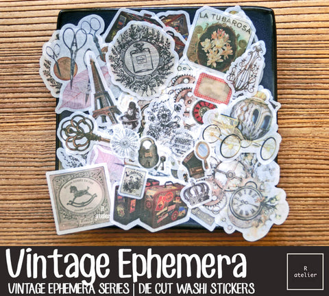 Vintage Ephemera | Die Cut Washi Stickers