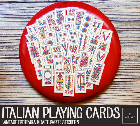 Vintage Italian Playing Cards (R.atelier Exclusive Kraft Stickers)