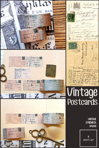 Vintage Postcards | 2 Rolls Pack