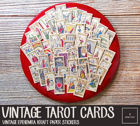 Vintage Tarot Cards (R.atelier Exclusive Kraft Stickers)