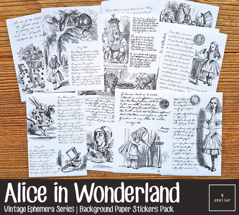 Alice in Wonderland | Sticker Sheets Pack