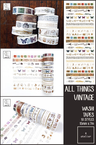 All Things Vintage Washi Tapes | 15mm x 7m