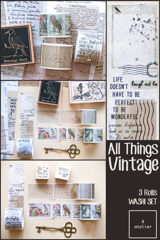 All Things Vintage | 3 Rolls Washi Set (3)